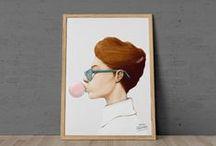 inspiración   Ilustración / Ilustración, dibujos, carteles, posters, diseño gráfico, creatividad, artes plásticas, pintura