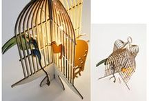 Miniature#1, Cage with Exotic Birds