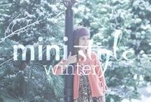 mini style // winter fashion / Winter and cold weather fashion and outfit inspiration for kids.