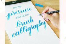 » Brush lettering | Tutorial-Resources