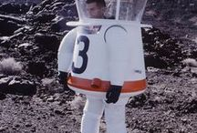 Space Suits & Pressure Suits / Various space suits and high altitude pressure suits. Some conceptual and some real.
