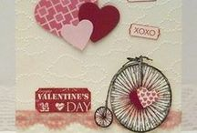 Stampin Up Valentine / Valentine cards using mostly Stampin' Up / by Deborah Newman