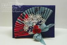 Stampin UP Fans & Rosettes / Fans and Rosettes, wreaths made from SU Big Shot Rosette die / by Deborah Newman