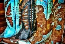 "Cowboy Boots.. / Cowboy boots refer to a specific style of riding boot, historically worn by cowboys. They have a Cuban heel, rounded to pointed toe, high shaft, and, traditionally, no lacing. Cowboy boots are normally made from cowhide leather but are also sometimes made from ""exotic"" skins such as alligator, snake, ostrich, lizard, eel, elephant, stingray, elk, buffalo, and the like."