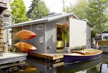 House Boats.. / A houseboat or (boathouse) is a boat that has been designed or modified to be used primarily as a home. Some houseboats are not motorized, because they are usually moored, kept stationary at a fixed point and often tethered to land to provide utilities.