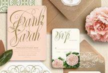 WEDDING - Invitations & Stationery / Wedding stationery inspiration for the creative couple..