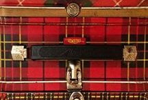 """T"" is for Tartans /  A Tartan is a plaid textile design of Scottish origin consisting of stripes of varying width and color usually patterned to designate a distinctive clan or family group.My family clan is The Buchanan Clan."