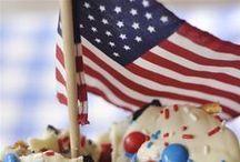 Patriotic Holiday Foods & Decor