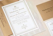 Hollywood chic invitations / Gold inspired party / by Vicky Alvarez Campos