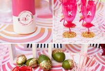 Flamingo Bridal Shower inspiration / All things flamingo, gold and love filled
