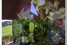 BLISS WEDDING  MEGEVE FRANCE 13.09.14 / Un jolie mariage , une belle escapade en montagne... du bonheur!  La decoration inspirée du jolie ventre rond de la mariée et des bulles sur sa robe, nous avons joué avec les éléments. Le marié aimant l'eau.. nous avons alors décliné le tout.  En recréant aussi de vrasi petits jardins dans nos grands vases saquarium, nous avons aussi fait un clin d'oeil à notre environment en rajoutant des edelweiss dans les creations florales....  Un bon moment de creation !
