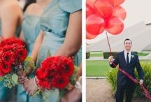 Aqua & Red Weddings