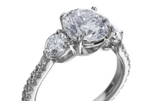 Wedding Style - Three-Stone / Symbolizing your past, present, and future, a three-stone engagement ring features a large center diamond flanked by two smaller diamonds. / by Michael C. Fina