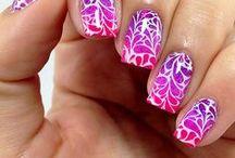 Gel Polish Nail Art / Nail art created using soak-off gel nail polish!