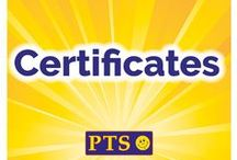 Certificates / View our fantastic range of Personalised, Holographic and standard Certificates and Certificards. All items are available online at www.primaryteaching.co.uk.