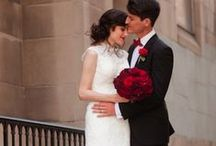 Black, White & Red Weddings / Classic black and white with pops of scarlet red! / by Michael C. Fina
