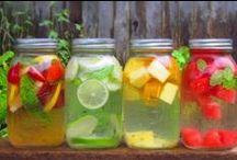 Infused Water Recipes / Find all the infused Water Recipes using fruits and veggies combinations to help you drink more water. Easy and Frugal to do.