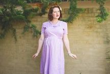 Maternity Lookbook / Creating a vintage inspired maternity style