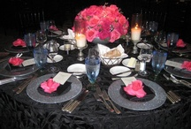 Event using Pink, Black & Silver / Ideas for event using the color scheme of Pink, Black and silver