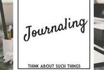 Journal Love / All things about journaling! Journals, diaries, bullet journal, Bible Journaling, creative journlasm art journals, Writing, notes, journal prompts