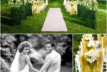 Inspiration: Love in bloom / Let your love bloom in a garden lush with greenery and flowers blossoming from aisle to altar. Transform your reception into a garden party that continues the romance of this inspiration at tables that seem naturally grown from the lush garden surroundings.