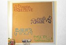 Craft room Decor / Creating a Craft room with style, storage and functional space.