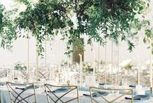 greenery / green and wild flower arrangements with minimal colour