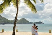 Honeymoon Hop: St. Lucia / St. Lucia is home to gorgeous beaches, the twin peaks of Les Pitons, lush rainforests and 3 Sandals Resorts!  St. Lucia Weddings | All Inclusive St. Lucia Vacations | Sandals Resorts Weddings | St. Lucia Honeymoons