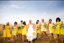 Kleurthema: Geel/yellow / Bruiloft in kleurthema geel Wedding in yellow