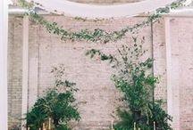 installation / wedding flower installations