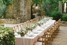 reception / wedding celebrations taking place outside / outdoors with no coverage