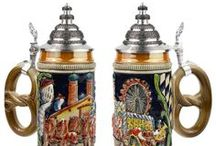German Beer Steins / Authentic German beer steins and glasses. / by OktoberfestHaus.com
