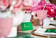 wedding: pink and green. / Preppy pink and green wedding colors.