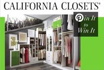 Dream Closet Pin-to-Win Contest! / Pin your dream closet inspiration October 2 - 16 for a chance to make your dream a reality with a California Closets design!