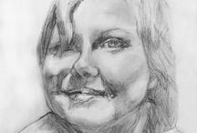 Portraits  in graphite By Priscilla( Sky ) Batzell / accepting commissions  from photos  Contact info here      http://expressionistar.wix.com/expressionistar- / by EXPRESSIONISTAR STUDIOS Priscilla Batzell