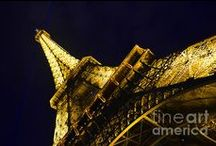 Eiffel Tower Paris France Lovers / Great gift idea for the the Paris lovers. Beautiful pictures of the  Eiffel Tower and painting.  #Landmark #Francophiles #lovers