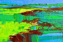 Colorful Abstract Painting / These colorful abstract paintings are available at my website or in print format. Some Originals sold. Please, check availability at awapara.com  Home Decor #abstract paintings artworks