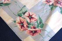 Linens And Fabric Lovelies / I love vintage linens and textiles...her are some beauties!