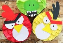 Angry Birds Movie Party Idea / Having a Angry Birds Movie Theme Party? Find everything you need on our board to host the ultimate Angry Birds Movie party.  Angry Birds Mini Piñata, Angry Birds Party Favors, Angry Birds Decorations, Angry Birds Gift Idea and more.