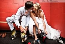 'I Do'...hockey style / We do...love this hockey wedding board.