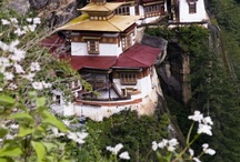༺ Bhutan ༻ / Officially the Kingdom of Bhutan, is a landlocked state in South Asia, located at the eastern end of the Himalayas & bordered to the south, east & west by the Republic of India & to the north by the People's Republic of China. Government: Unitary parliamentary constitutional monarchy,  King: Jigme Khesar Namgyal Wangchuck, Capital: Thimphu, Dialing code: 975, Population: 738,267 (2011), GDP: US$ 1.689 billion (2011), Currencies: Indian rupee, Official languages: Dzongkha, Bhutanese ngultrum   / by ༺♥ Mitzi ♥༻