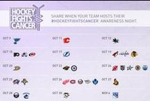 Hockey Fights Cancer / A board for #HockeyFightsCancer Awareness Month every October during the NHL regular season.