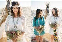 Boho beach wed