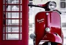 ༺ Vespa ༻ / Vespa (Italian pronunciation: [ˈvɛspa]) is an Italian brand of scooter manufactured by Piaggio. The name means wasp in Italian. / by ༺♥ Mitzi ♥༻