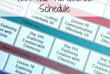 Homeschool Organization Planning / Homeschooling planning, curriculum routines, scheduling, routines for homeschool, high school, middle-school helping you survive your journey