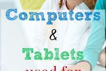 Homeschooling Technology / Homeschooling Resources for tablets, computers, cell phones, and other types of learning tech. Lesson plans, apps to use, e books etc for teachers, students alike