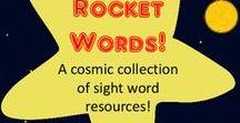 "Sight words / Activities to help with memorizing ""rocket words"""