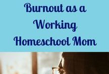 Working Homeschool Mom Resources / Homeschooling Help for Working Moms sharing how to find balance in juggling homeschool, work and life. Tips for work at home mom, work outside the home, homeschooling older kids and teens, how to avoid burnout and more!