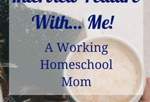 Chatting With Working Moms / Working Homeschool moms share what goes on behind the scenes. Sharing routines, schedules, why they started homeschooling and what homeschooling looks like for them. Find Inspiration and Encouragement