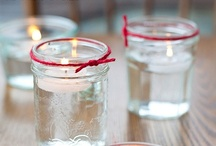 Candles  / Candles lit up a good mood and cozy atmosphere.  I just love them for both reasons....